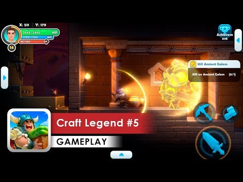Craft Legend Gameplay #5 HD (iOS & Android) Ancient Golem!