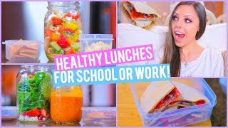 3 Healthy Lunch Ideas For Work Or School + Mason Jar Life Hack! | Kristi-anne Beil