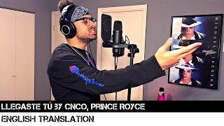 Llegaste Tú By Cnco, Prince Royce  English Translation