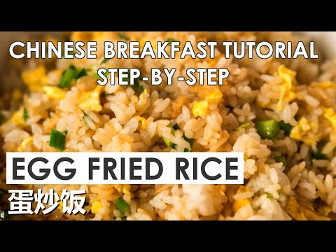 Egg Fried Rice Chinese Breakfast Tutorial (蛋炒饭)
