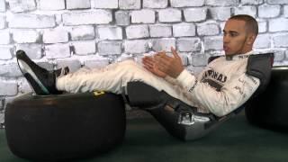 Lewis Hamilton explains F1 drivers' race seats