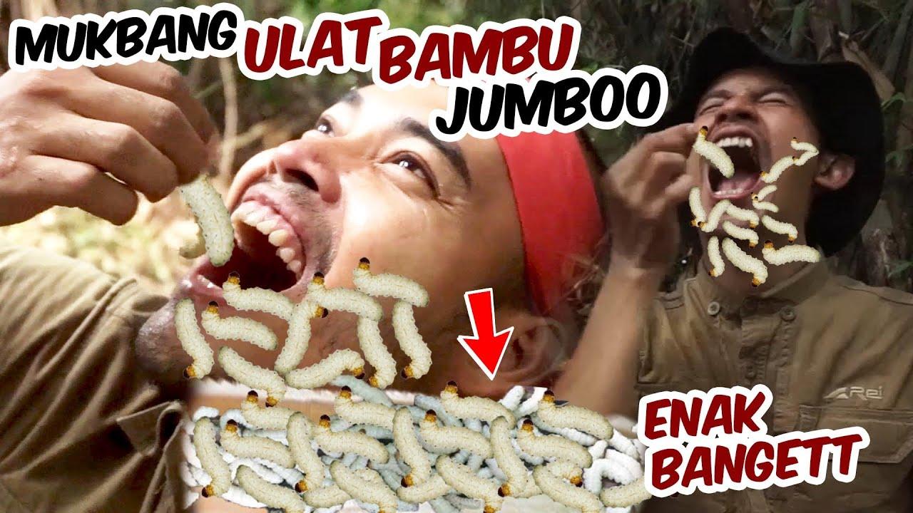 Mukbang ULAT BAMBU JUMBOOO..!!! ENAKK, Bikin NAGIHH..!!!