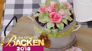 Blumentopf 3D Torte: Überzeugt der blumige Nachtisch | Verkostung | Das große Backen 2018 | SAT.1 TV