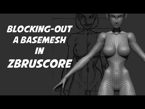 ZbrushCore Blocking-out a Basemesh