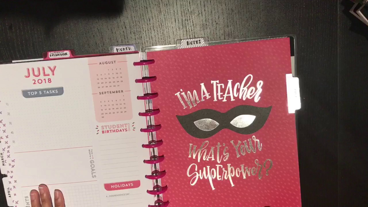 Happy Planner Teacher Planner Set Up