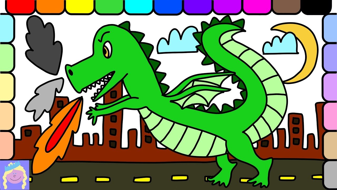Learn How To Draw A Fire-Breathing Dragon With This Easy Drawing And ...