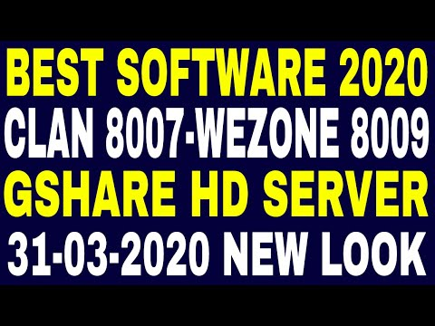 Best Set Top Box Software 2020,Clan 8007-8009 Gshare HD Software,Wezone 8009 Gshare Software,IPTV