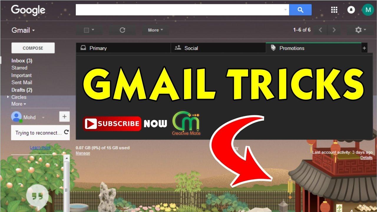 Gmail themes not working 2017 - Amazing Gmail Tricks You Should Try 2017 Gmail Theme Background Image Hindi Urdu