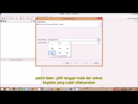input data patroli (create new patrol) - SMART conservation software