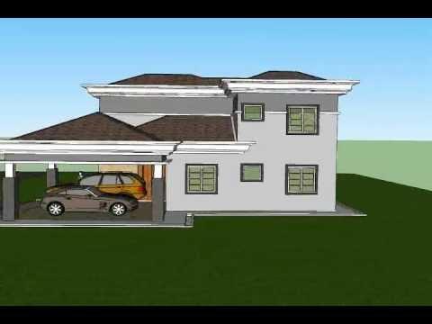 Pelan Rumah C2 07 Pelan Rumah Banglo 2 Tingkat 4 Bilik 3 Bilik Air Youtube