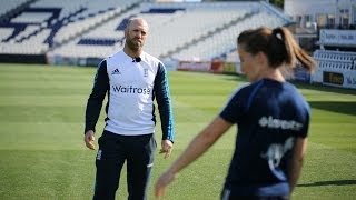england cricket meets england hockey matt prior and maddie hinch train together