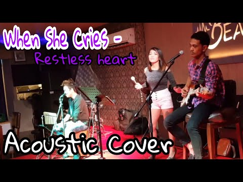 WHEN SHE CRIES - ( cover by: BRIGHT VERSION ACOUSTIC)