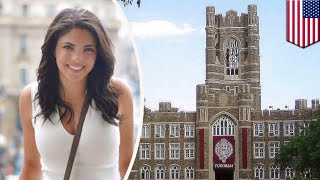 Fordham student falls from clock tower after snapchatting - TomoNews