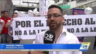 Junio 15 2017 Comerciantes nocturnos en Cali marcharon para rechazar medida de ley seca