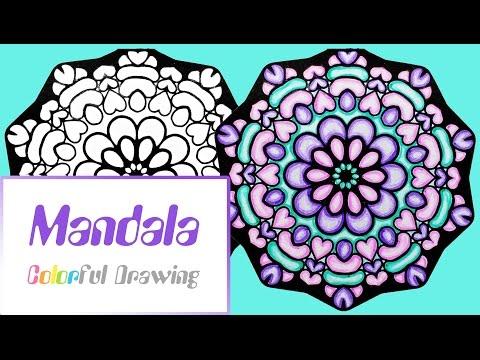 speed-coloring---coloriage-mandala-n°5-!