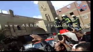 جنازة مهيبة لرئيس مباحث شبرا الخيمة فى مسقط رأسه شنشور منوفيه