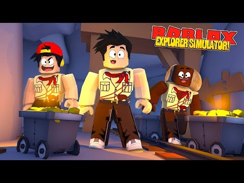 ROBLOX EXPLORER SIMULATOR - DONUT & ROPO FIND THE BIGGEST GOLD STASH EVER IN A SECRET TOMB!!