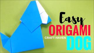 Origami Dog Easy and Cute Tutorial - Origami Easy (Very Easy) Tutorials for Beginners - DIY for Kids