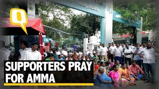 The Quint: As Amma's Health Worsens Jaya's Supporters Pray for Her Recovery