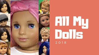 HUGE American Girl Doll Collection - 2018