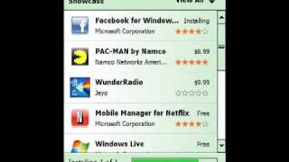 Download and Install WM App Store ( Marketplace ) to your WM 6, 6.1 or 6.5 device