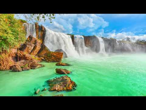 Waterfalls HD free background video loop animation download