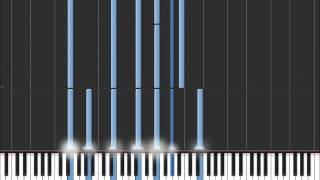 Goodbye My Lover - James Blunt (Easy Piano Tutorial) in Synthesia (100% speed)