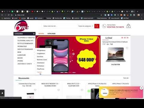 création de collection + element du menu   Shopify