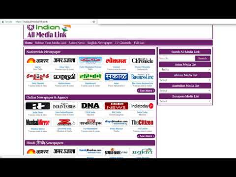 Read Indian All Newspaper Online & Browse All Media of India