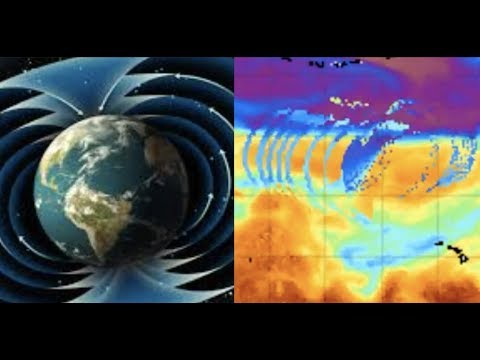 Energy Pulse in N Pacific Ocean - Resembles magnetic field lines of a planet!