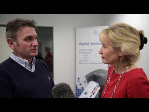 The Principal, Professor Jenny Higham, s Duncan Larkin, Media Services Manager