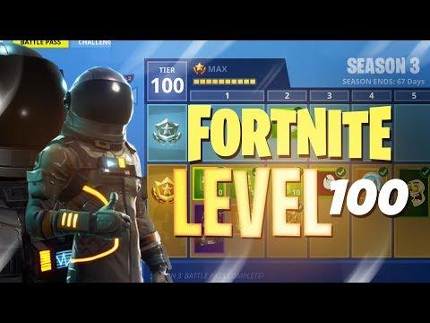 ALL Season 3 Battle Pass Rewards (LEVEL 100!!) - Fortnite: Battle Royale