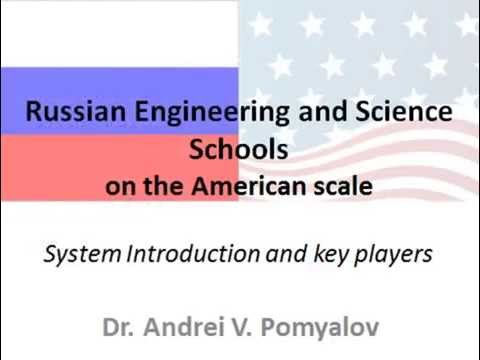 Russian Engineering and Science Schools on the American scale.  Book introduction.