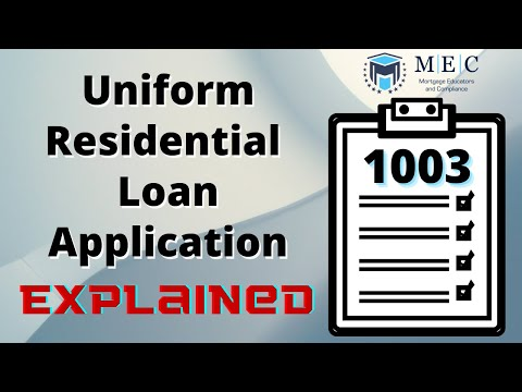 Uniform Residential Loan Application (URLA) 1003 Form Explained/Walkthrough