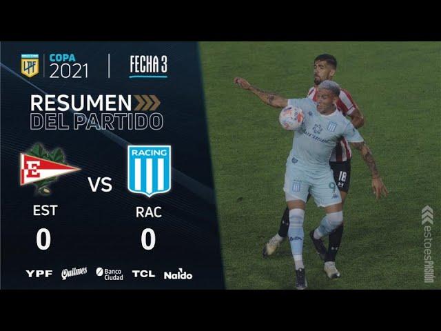 Copa De La Liga | Fecha 3 | resumen de Estudiantes - Racing