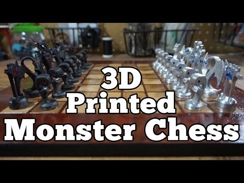 3D Printed Monster Chess Set, Pt 3 - FINISHED | BMT #96
