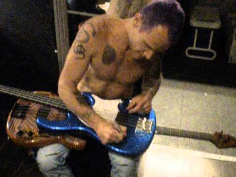 Flea signing my bass. read description for full story