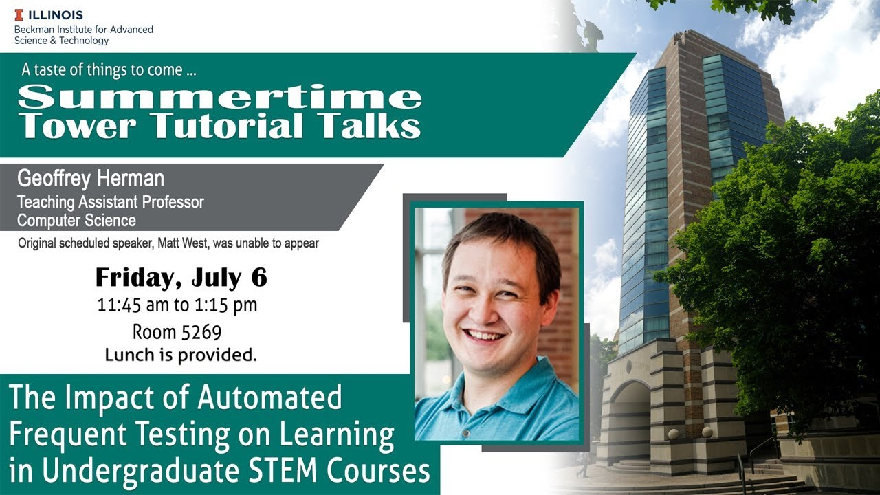 """Watch """"The Impact of Automated Frequent Testing on Learning in Undergrad STEM Courses"""" (Tower Talk)"""