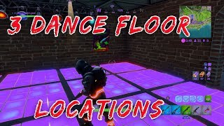 Fortnite Dance On Different Dance Floors | Week 8 Battle Pass Challenges