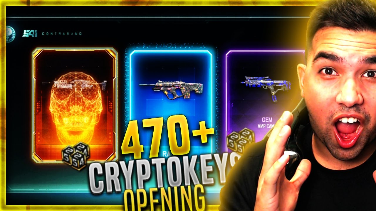 I GOT THE NEW CAMOS! - 470+ CRYPTOKEY Opening - BLACK OPS 3 RARE SUPPLY  DROP OPENING - BO3 EPIC CAMO