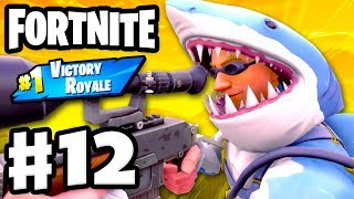 SHARK ATTACK! Sniper Eliminations in 50 vs 50! #1 Victory Royale! - Fortnite - Gameplay Part 12