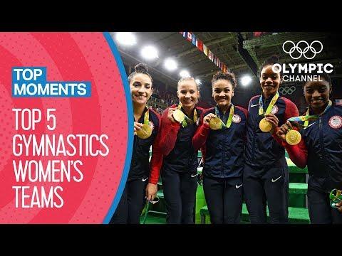 TOP 5 Best Artistic Gymnastics Women's Teams | Top Moments