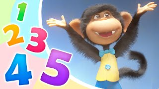 Gambar cover TaDaBoom Español🐵🍌 CINCO MONITOS 🍌🐵 Five Little Monkeys 🎵 Canciones infantiles 👶