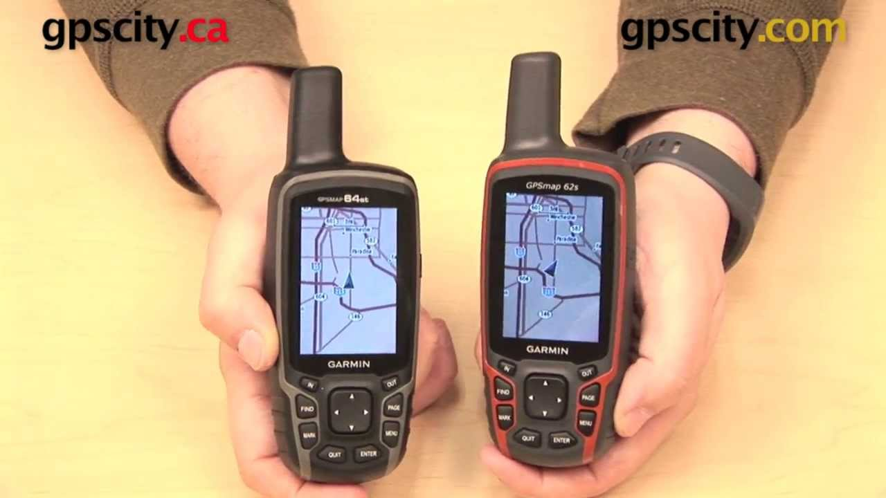 Garmin GPSMAP 64 vs. 62 Comparison Video with GPS City - YouTube