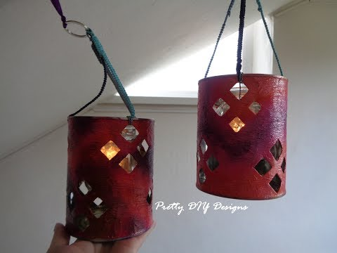 Lanterns Made from Tin Cans