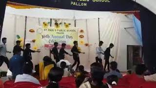 Fusion dance performance by St Paul's public school pallom 9th Std boyzz