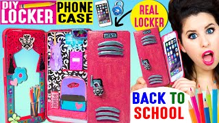 DIY Locker Phone Case | Use An iPhone Case As A REAL Locker | Hide Candy & Back To School Items!