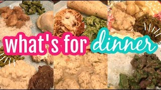 WHAT'S FOR DINNER & DESSERT    REAL LIFE LARGE MEAL IDEAS    BUDGET MEAL IDEAS