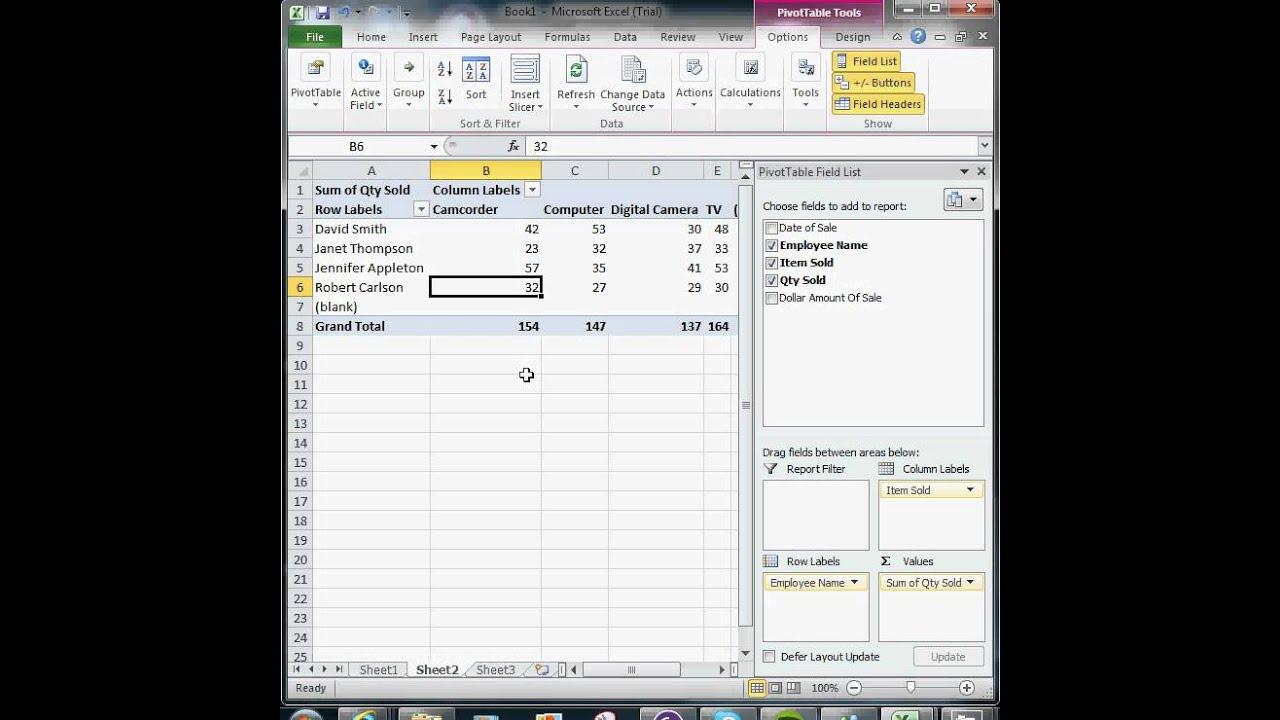 excel pivot table tutorial pdf