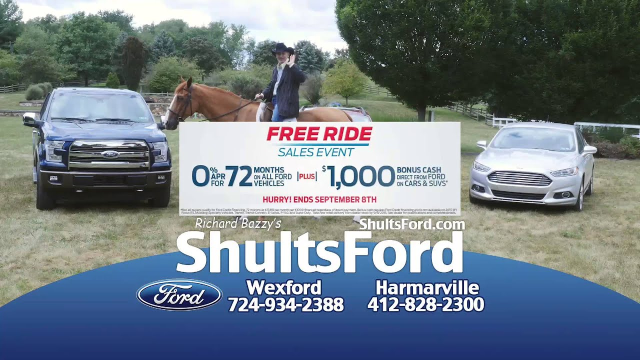 0 apr for 72 months and the best selection around at shults ford in wexford harmarville youtube. Black Bedroom Furniture Sets. Home Design Ideas